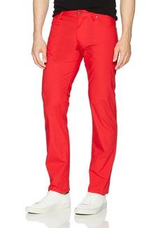 A X Armani Exchange Men's Destry Wash Denim 5 Pocket Pant Absolute red