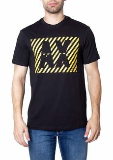 A|X Armani Exchange Men's Diagonal Stripe AX Print Logo Cotton Jersey T-Shirt  M