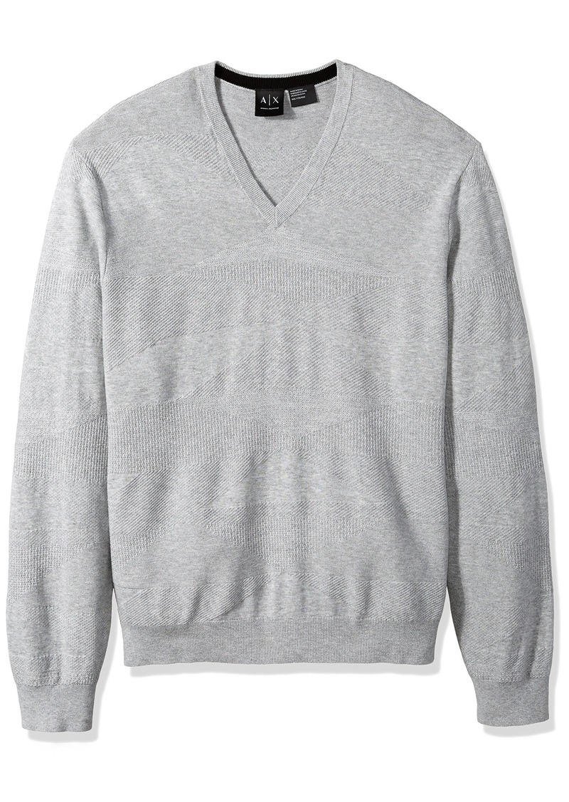 A|X Armani Exchange Men's Diamondweave Pullover  M