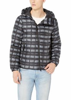 A|X Armani Exchange Men's Digital Check Jacket Alloy L
