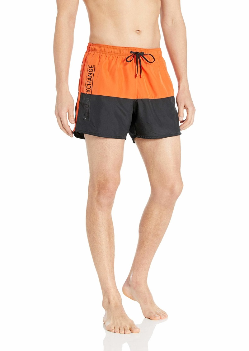 A X Armani Exchange Men's Dual Colored Swimming Trunk Shorts  L
