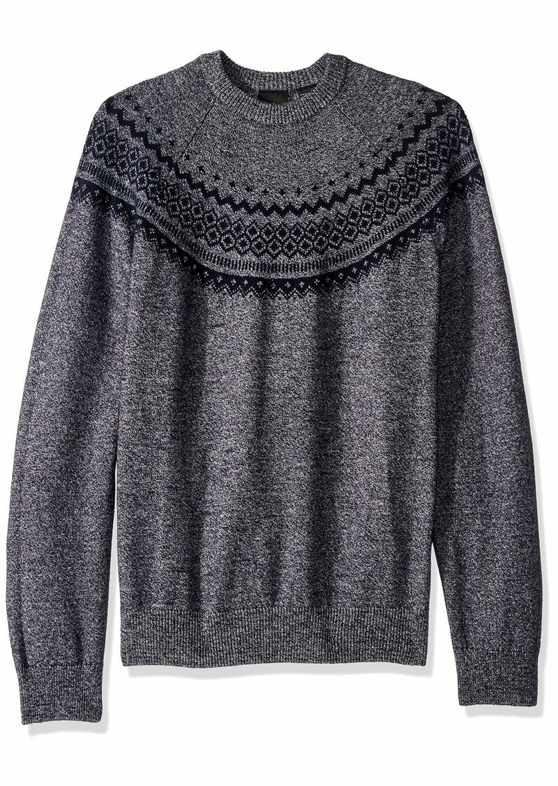 A|X Armani Exchange Men's Dyed Yarn Vintage Holiday Pullover Sweater  XXL