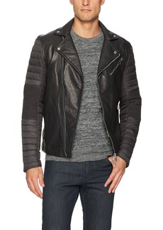 A|X Armani Exchange Men's Eco Leather Moto Jacket