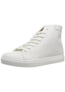 A X Armani Exchange Men's Embossed Print High Cut Sneaker  11 Medium US