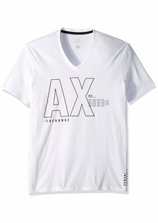A|X Armani Exchange Men's Faded AX Logo tee  L