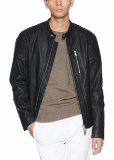 A|X Armani Exchange Men's Faux Leather Biker Jacket  XL