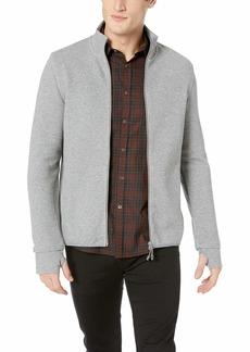 A|X Armani Exchange Men's Full Zip Mock Neck Sweatshirt HTR Grey BC09/MED HT XL