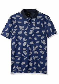 A|X Armani Exchange Men's Geometric Short-Sleeve Polo Shirt POLYG. CAMO BS Blue S