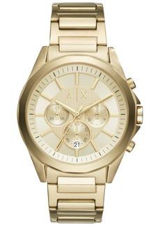 AX Armani Exchange Men's Gold-Tone Stainless Steel Bracelet Watch 44mm AX2602