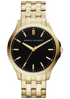 AX Armani Exchange Men's Gold-Tone Stainless Steel Bracelet Watch 45mm AX2145