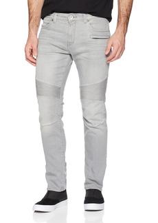 A X Armani Exchange Men's Grey Motorcycle Jeans Denim
