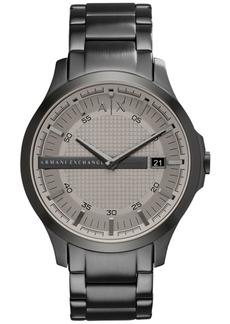AX Armani Exchange Men's Gunmetal-Tone Stainless Steel Bracelet Watch 46mm AX2194
