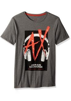 A|X Armani Exchange Men's Headphones Graphic Logo tee  S
