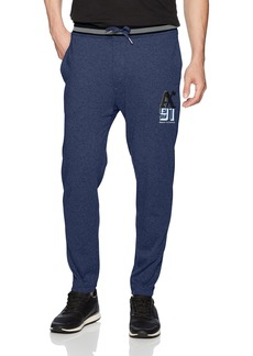 A|X Armani Exchange Men's Heathered Tapered Sweatpants DK. SEA HTR B8275