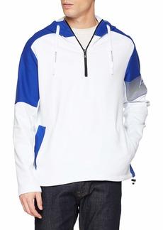 A|X Armani Exchange Men's Hooded Half-Zip Sweatshirt  L