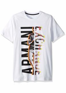 A|X Armani Exchange Men's in Person Sideways Logo tee  XXL