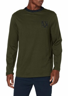 A|X Armani Exchange Men's Jumper with AX Logo on Neck  L