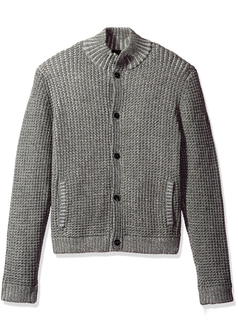 Armani Exchange A|X Armani Exchange Men's Knit Button up Cardigan ...
