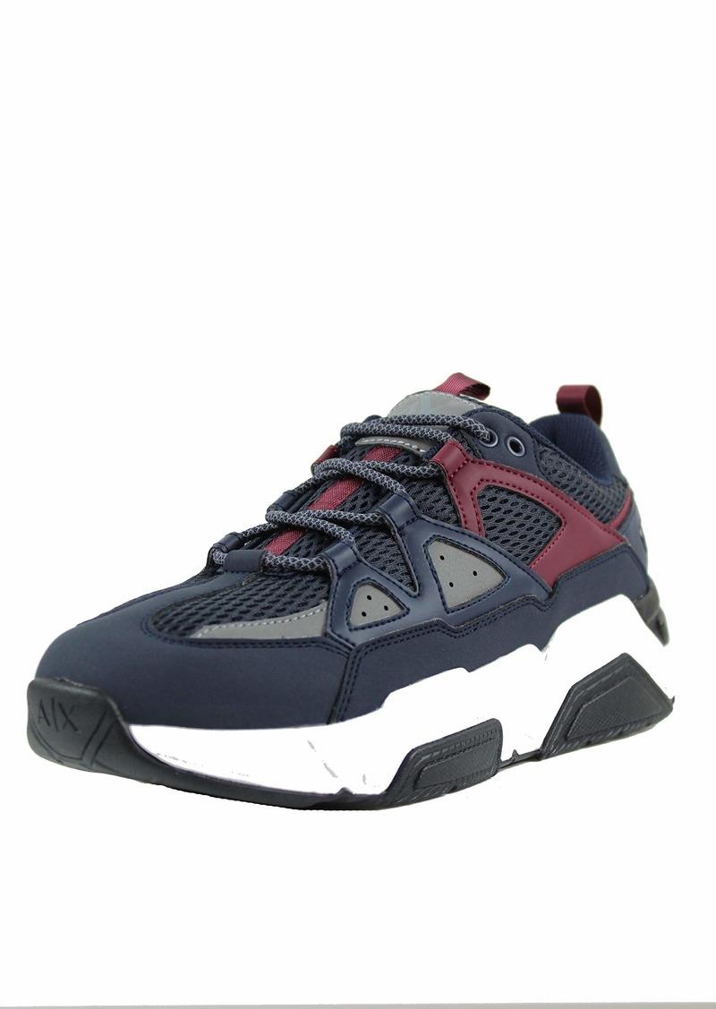 A X Armani Exchange Men's Lace Up Sneaker   Medium US