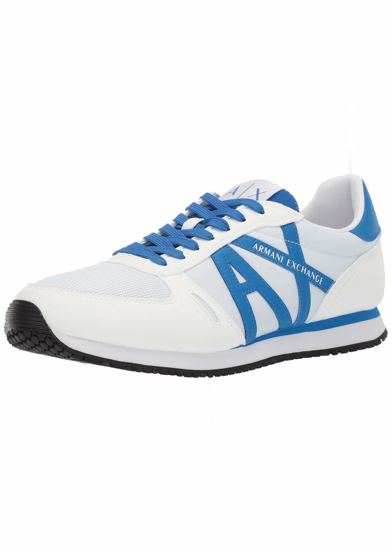 A|X Armani Exchange Men's Lace Up Sneaker with Logo   US