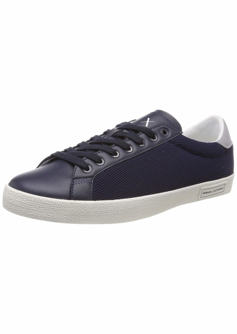 A|X Armani Exchange Men's Lace Up Sneaker with Suede Heel   M US