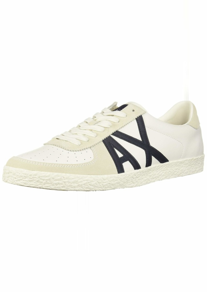 A X Armani Exchange Men's Large Logo Low Top Sneaker   M US
