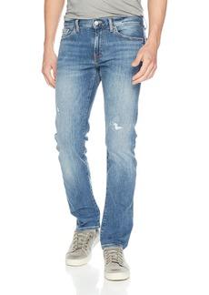 A|X Armani Exchange Men's Light wash Distressed 5 Pocket Jeans
