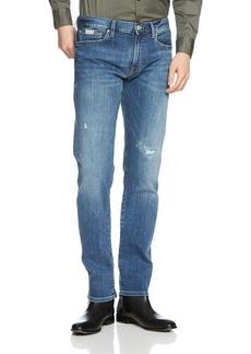 A X Armani Exchange Men's Light wash Distressed 5 Pocket Jeans
