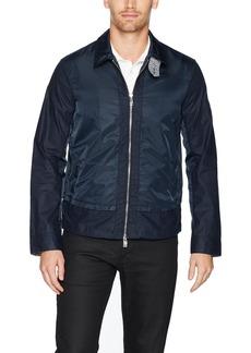 A|X Armani Exchange Men's Linen Coutton Lightweight Jacket