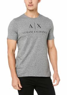 A|X Armani Exchange Men's Logo Crew Neck Short Sleeve Jersey T-Shirt BROS BAB074 HTR Gray XL