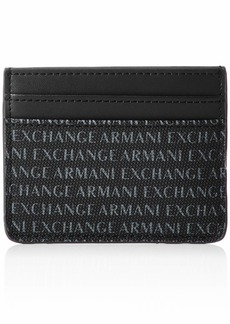 A|X Armani Exchange Men's Logo Plaque Credit Card Holder