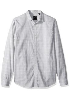 A|X Armani Exchange Men's Long Sleeve Cotton Woven Shirt  L