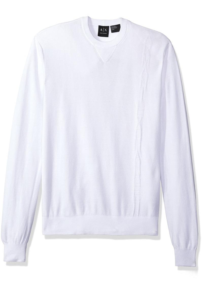 bcd9c2d0db81 A|X Armani Exchange Men's Long Sleeve Crew Neck Pullover Knit Reg Fit
