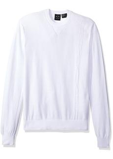 A|X Armani Exchange Men's Long Sleeve Crew Neck Pullover Knit Reg Fit