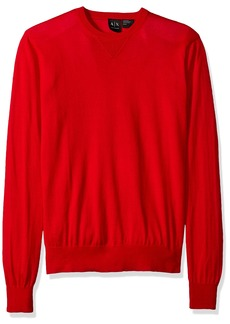 A|X Armani Exchange Men's Long Sleeve Crew Neck Pullover Knit Slim Fit