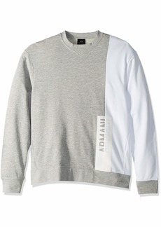 A|X Armani Exchange Men's Long-Sleeve Crew Neck Sweatshirt BROS BC05/WHITE XL