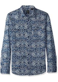 A|X Armani Exchange Men's Long Sleeve Paisley Print Shirt  S