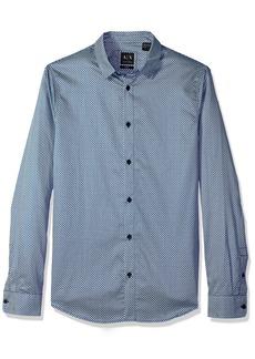 A|X Armani Exchange Men's Long Sleeve Print Shirt  S