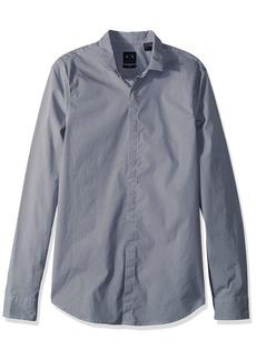 A|X Armani Exchange Men's Long Sleeve Printed Aramni Shirt  S
