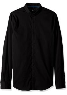 A|X Armani Exchange Men's Long Sleeve Stripe Shirt  M