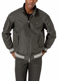 A|X Armani Exchange Men's Long Sleeve Zip up Jacket Military Green/DEEP M