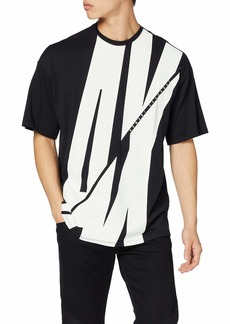 A|X Armani Exchange Men's Loose Fit T-Shirt with  Slashed AX on Front  L