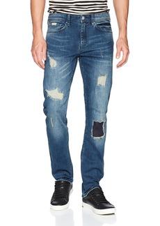 A|X Armani Exchange Men's Lose fit Ripped 5 Pocket Jeans