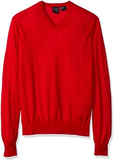 A|X Armani Exchange Men's Ls V Neck Sweater Knit