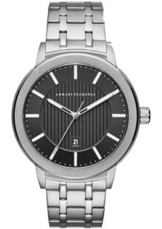 AX Armani Exchange Men's Maddox Stainless Steel Bracelet Watch 46mm