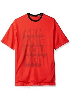 A|X Armani Exchange Men's Mesh Overlay Logo Tee