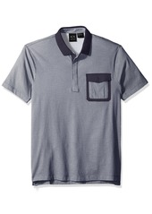 A|X Armani Exchange Men's Microprinted Cotton Jersey Pocket Polo Shirt