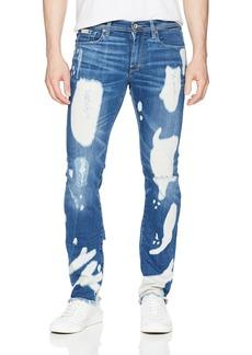 A|X Armani Exchange Men's Mid-Rise Bleached 5 Pocket Jeans