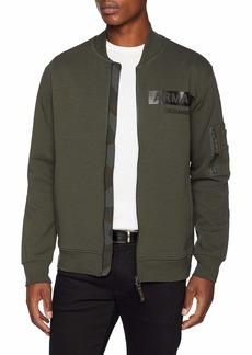 A|X Armani Exchange Men's Military AX Zip-Up Sweatshirt  M