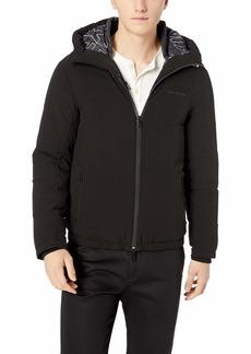 A|X Armani Exchange Men's Mixed Fabric Bomber Jacket  S